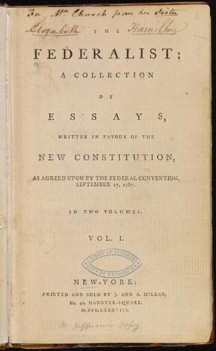 three copy writers in the federalist papers